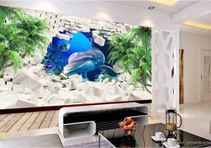 Wallpaper Murals for Sale Wallpaper for Walls 3 D Dolphin Coconut Tree Wall Papers Home Decor
