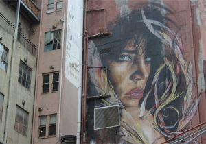 Wallpaper Murals Melbourne A Woman Overlooks Melbourne Victoria Australia Danielle Maingot