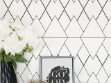 Wallpaper Vs Wall Murals Geometric Removable Wallpaper Regular or Self Adhesive