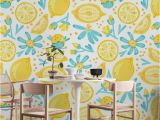 Wallpaper Vs Wall Murals Lemon Pattern White Wall Mural Wallpaper Patterns