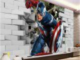 Walltastic Avengers Wall Mural Avengers Captain America 3d Wall Mural Wallpaper