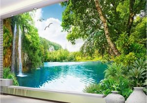 Walltastic Paradise Beach Wall Mural Mural Wallpaper Waterfall Nature Landscape
