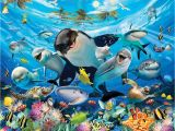 Walltastic Sea Adventure Wall Mural Sea Adventure РРБКИ фото обои 3d Walltastic КЛЕЙ