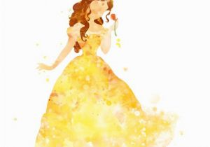 Walt Disney Wall Murals Belle Print Princess Belle Print Watercolor Disney Wall Art Belle