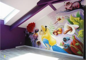 Walt Disney Wall Murals I M Not A Fan Of Alice In Wonderland but This Mural is Beautiful