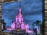 Walt Disney World Wall Murals $1 99 Disney Castle Starry Sky Painting Hd Print Canvas