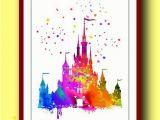 Walt Disney World Wall Murals 1 Buy 1 Free = 2 Drawing Using Watercolor Gives A Bright