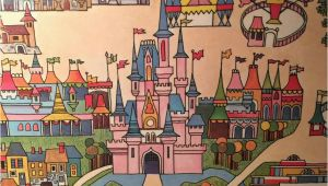Walt Disney World Wall Murals Rare original 1971 Walt Disney World Map Wall Art From Polynesian Hotel