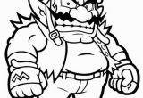 Waluigi Coloring Pages Printable Wario Mario Coloring Page