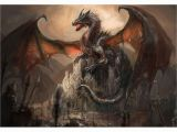War Of the Wall Mural War with the Dragon On Castle In 2019 Fairytale