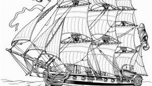 War Ship Coloring Pages Full Rigged Ship Ships