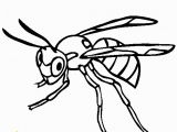 Wasp Coloring Pages for Kids Insect Line Coloring Pages
