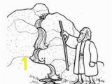 Water From the Rock Coloring Page 184 Best Moses Crafts Images On Pinterest