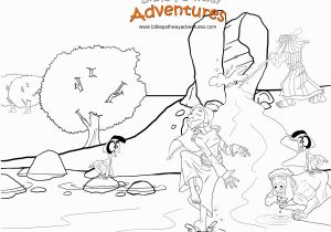 Water From the Rock Coloring Page Water From the Rock A Coloring Page for Kids From the Bible Story