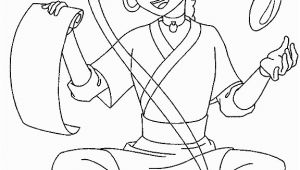 Water Play Coloring Pages Avatar the Last Airbender Katara Was Practicing Water