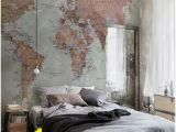 Watercolor Wall Mural Diy Classic World Map Mural