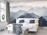 Watercolor Wall Mural Diy Mystische Berge Wandbild Misty Mountain Schatten