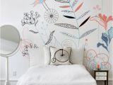 Watercolor Wall Mural Diy song Birds • Scandinavian Bedroom • Pixers • We Live to