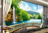 Waterfall Murals for Walls 3d Wallpaper Bedroom Mural Modern Embossed Tv Waterfall Background