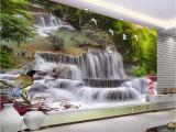 Waterfall Murals for Walls Beibehang Home Decorative Wallpaper Hd Landscape Waterfall Flying