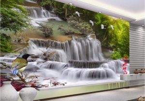Waterfall Murals for Walls Beibehang Home Decorative Wallpaper Hd Landscape Waterfall Flying