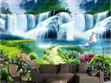 Waterfall Murals for Walls Custom 3d Wall Mural Classic Nature Scenery Waterfalls