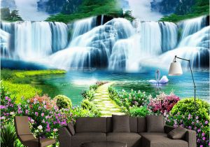 Waterfall Murals for Walls Custom 3d Wall Mural Classic Nature Scenery Waterfalls