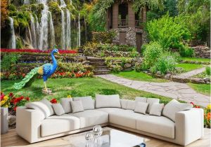 Waterfall Murals for Walls Custom Mural Wallpaper Modern Garden Landscape Waterfall Scenery