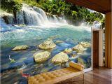 Waterfall Murals for Walls Custom Wall Paper 3d Waterfall Nature Landscape Murals