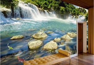 Waterfall Murals for Walls Custom Wall Paper 3d Waterfall Nature Landscape Murals