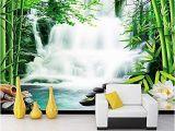 Waterfall Wall Murals Cheap Wallpaper Mural Living Room Bedroom Mural Bamboo forest Hot