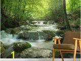 Waterfall Wallpaper Wall Mural Enchanting forest Waterfall In 2019 Home