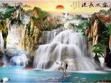 Waterfall Wallpaper Wall Mural Großhandel 3d Tapete Wasserfall Tapete Zimmer Wohnzimmer Tv sofa Hintergrund Wandtapete Für Wände 3 D Von Yeyueman9999 $26 82 Auf De Dhgate