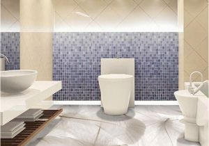 Waterproof Bathroom Murals 3d White Feather Floor Wall Paper Murals Anti Wear Bathroom