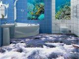 Waterproof Bathroom Murals Custom Mural Wallpaper 3d Little Brook Bathroom Floor Pvc Waterproof