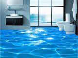 Waterproof Bathroom Murals Custom Mural Wallpaper 3d Sea Wave Textured Bathroom Pvc Self
