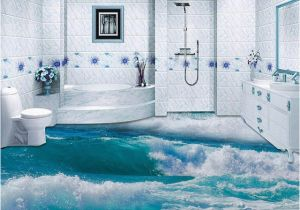 Waterproof Bathroom Murals Pvc Self Adhesive Waterproof 3d Floor Tiles Wallpaper Modern