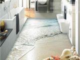 Waterproof Bathroom Murals wholesale Modern Sticker 3d Floor Bathroom Mural Hd Ocean Beach