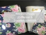 Webster Pages Color Crush Travelers Notebook Websters Pages Color Crush Travelers Notebook and A5