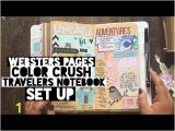 Webster Pages Color Crush Travelers Notebook Websters Pages Color Crush Travelers Notebook Set Up