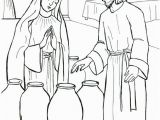 Wedding Feast at Cana Coloring Page the Start Of Jesus Public Ministry Jesus and Mary at the