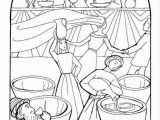 Wedding Feast at Cana Coloring Page Wedding at Cana Coloring Page at Getdrawings