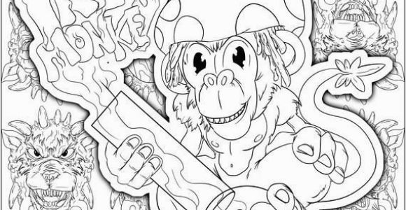 Weed Coloring Pages Perfect Stoner Gift Stoner Coloring Page Weed Art Adult Coloring