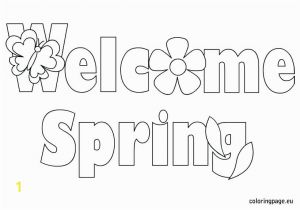 Welcome Spring Coloring Pages Printable Spring Season Coloring Pages Seasons Fabulous Gallery