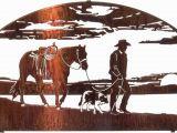 "Western Cowboy Wall Murals 20"" Horse and Cowboy Wall Art Western Wall Art"