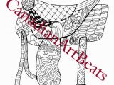 Western Horse Coloring Pages for Adults Saddle Western Horse Adult Coloring