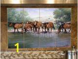 Western Tile Murals 26 Best Kitchen Backsplash Images