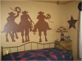 Western Wall Murals Decals Cowboy Silhouette Mural