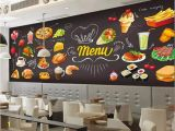 Western Wallpaper Murals Beibehang Custom 3d Wallpaper Hd Hand Painted Burger Pizza Western