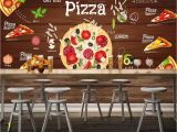 Western Wallpaper Murals Beibehang Custom Wallpaper 3d Pizza Background Wall Western